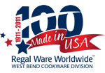 Lifetime cookware is made in the USA since 1909.